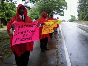 MACE DeKalb rainy picket